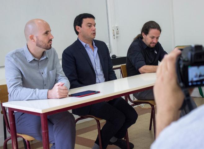 Nacho Álvarez, responsable económico de Podemos, el economista...