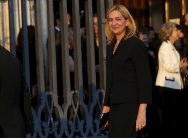 La Infanta Cristina, el pasado junio en Madrid para asistir al funeral...