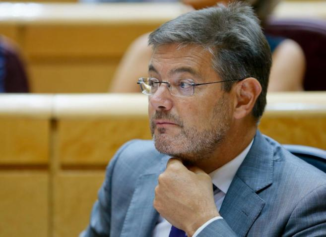 El ministro de Justicia, Rafael Catalá, durante una intervención en...