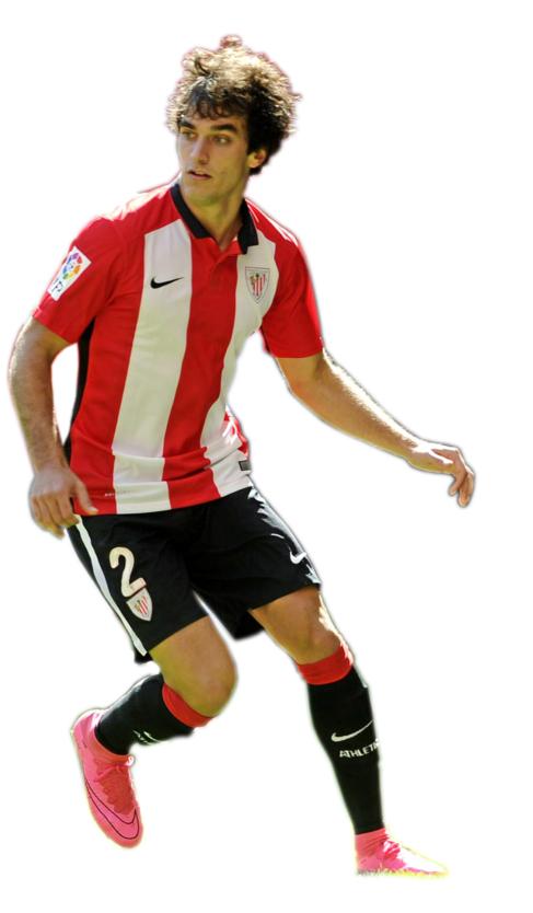 Iñigo Lekue en el partido entre el Bilbao Athletic y el Mallorca.