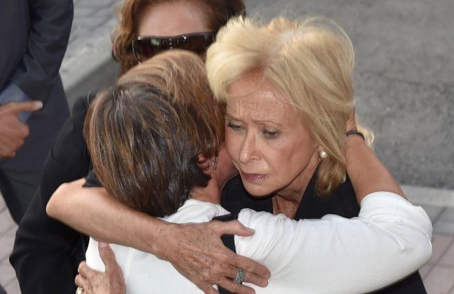 María Teresa Fernández de la Vega, este lunes en el tanatorio.