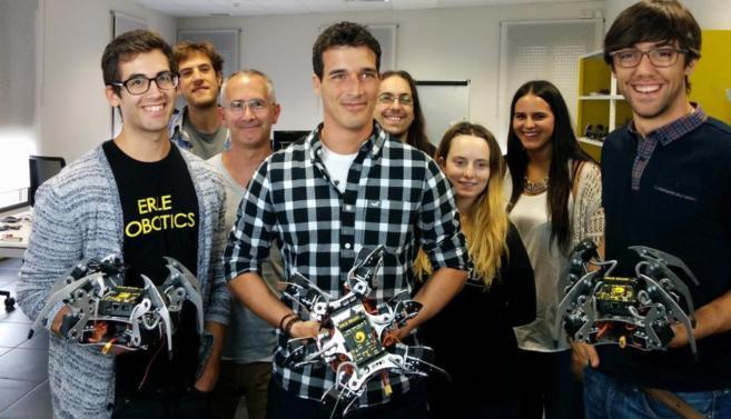 Miembros de la empresa alavesa Erle Robotics