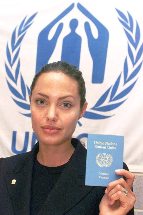 La actriz Angelina Jolie es enviada especial del Alto Comisionado de...