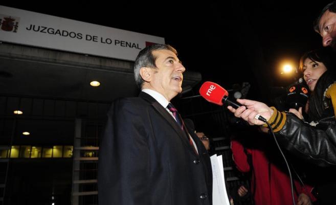 Ginés Jiménez tras declarar en los juzgados de lo penal.