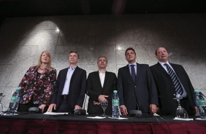 Margarita Stolbizer, Mauricio Macri, José Cano, Sergio Massa y...
