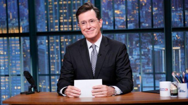 """Stephen Colbert al frente del programa """"The Late Show"""",..."""
