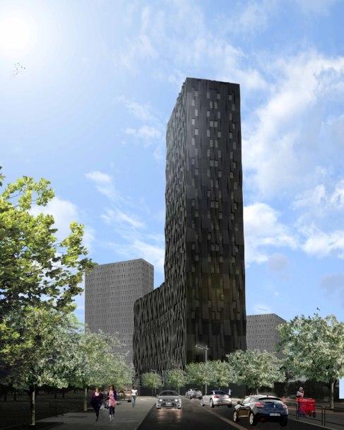 Recreación de la panorámica del edificio 'Bolueta'