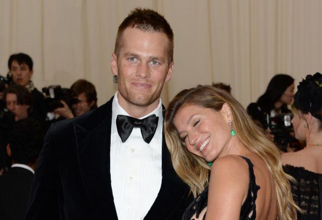 Tom Brady y Giselle Bunchen en la Gala del MET