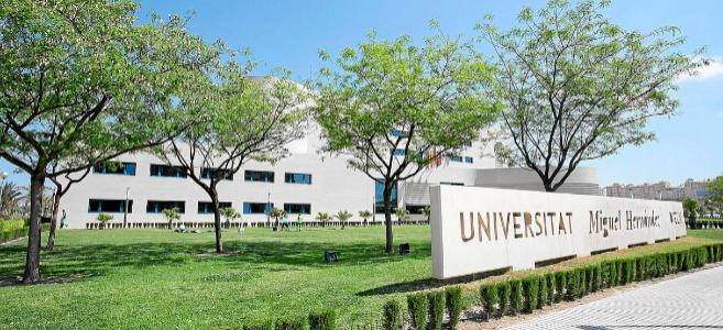 Una de las entradas a la Universidad Miguel Hernández de Elche.