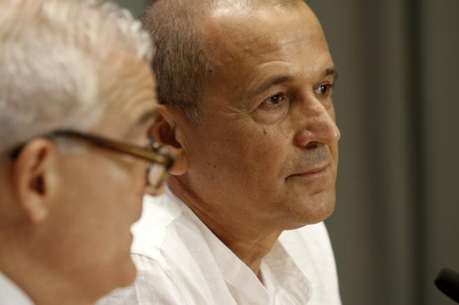 Víctor Labrado, junto al diputado de Cultura, César Augusto Asencio