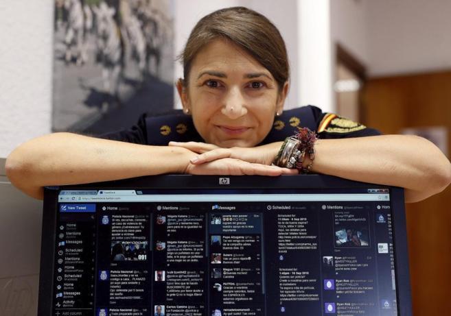 Carolina Gonzalez, responsable de redes sociales de la Policía...