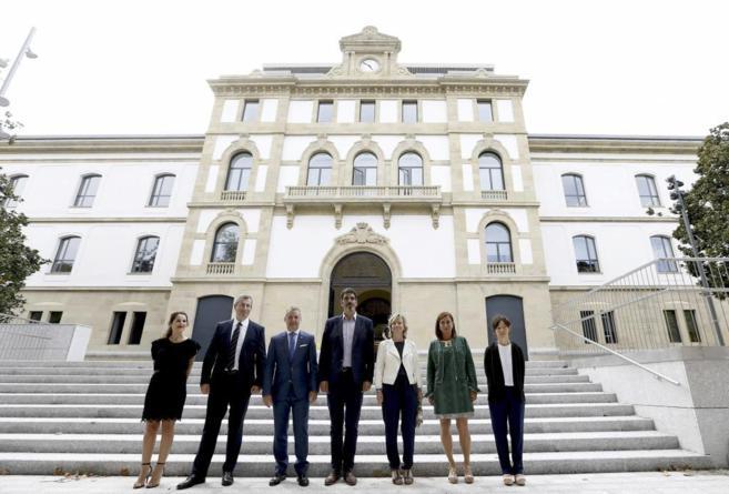 Iñigo Urkullu, Cristina Uriarte, Eneko Goia y Markel Olano en la...