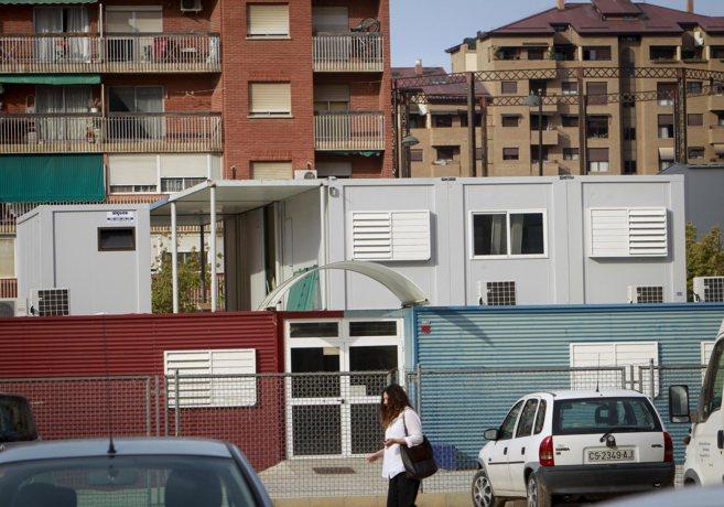 Las aulas prefabricadas del colegio 103 de Valencia.