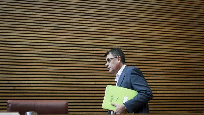 El presidente de las Cortes y líder del Bloc, Enric Morera, ayer en...