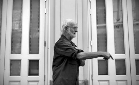 Josef Koudelka, esta mañana, en Madrid.