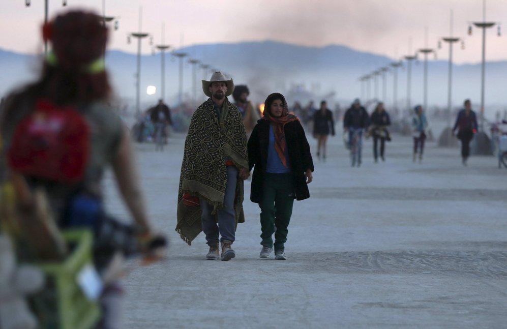 Momentos del último Burning Man Festival.
