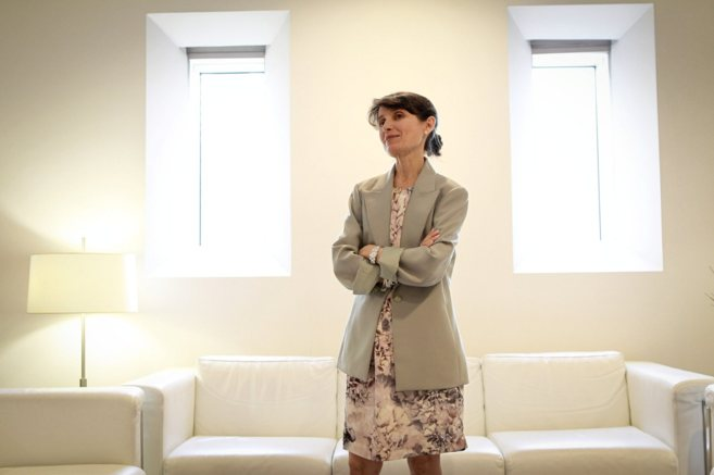 La investigadora española Ana María Cuervo, durante su visita a...