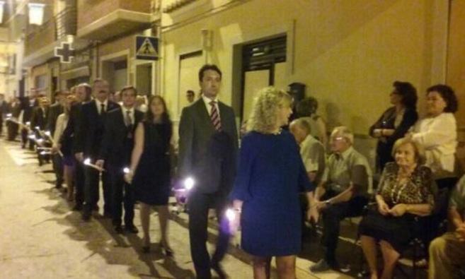 El presidente del PP de Valencia, Vicente Betoret, en la procesión de...