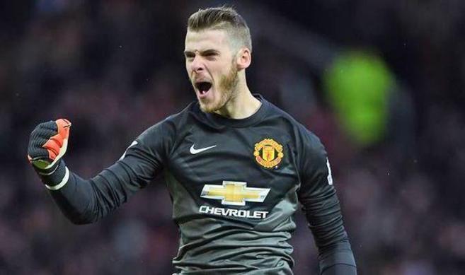 De Gea celebra una acción del Manchester United