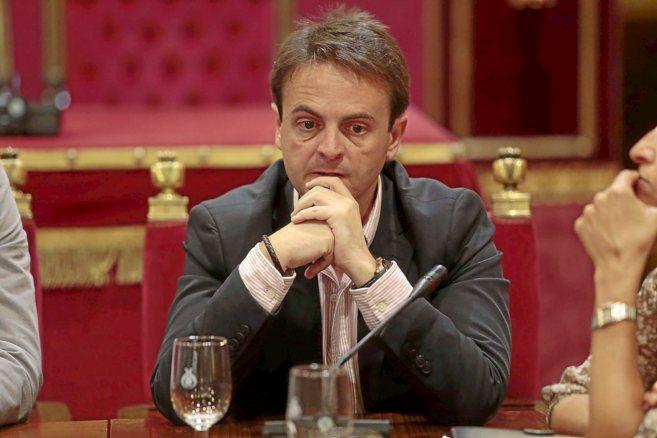 El concejal Juan Antonio Fuentes, que ha renunciado a sus funciones...