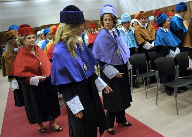 Yolanda Barcina, ex presidenta navarra, hoy, en el acto de apertura de...