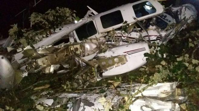 La avioneta accidentada en Colombia.