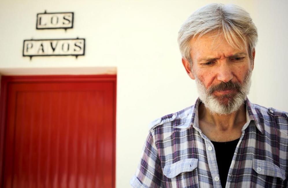 Abu Saleh, sirio de 48, el jueves en su casita de la finca de Las...