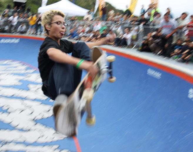 El 'rider' sueco Kalle Berglind en el 'bowl' de...