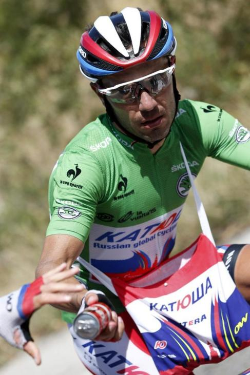 Purito, con el maillot verde.