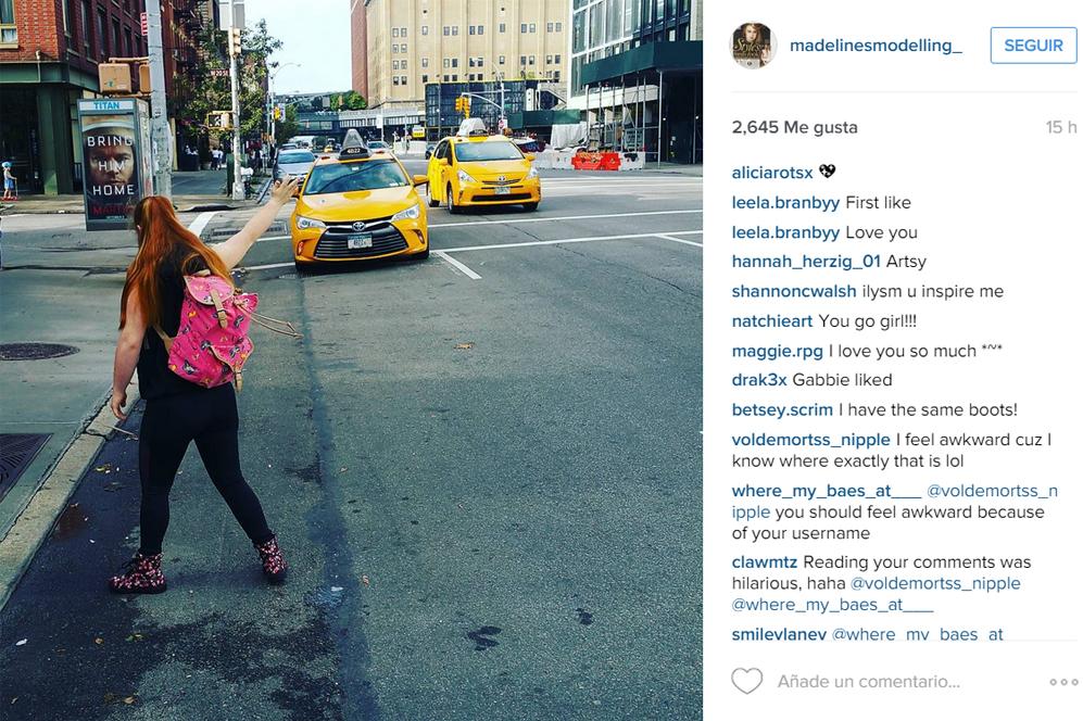 La modelo también ha tenido tiempo para disfrutar de Nueva York,...