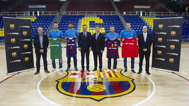 Presentación del acuerdo entre el FC Barcelona y Lassa Tyres. 941ebd76ed1