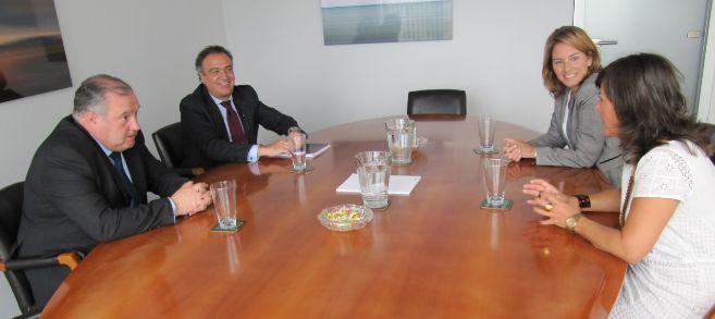 Quiroga y Llanos reunidos con el nuevo Presidente de Confebask,...