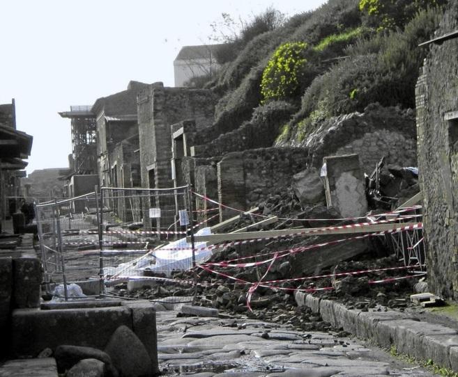 Vista de la ciudad de Pompeya.