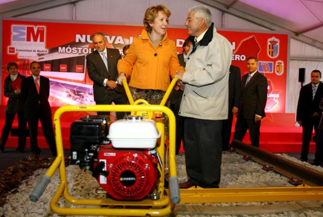 El 18 de febrero de 2008 Esperanza Aguirre presidió el acto de...