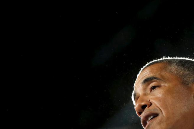 El presidente de EEUU, Barack Obama, en Des Moines, Iowa, este lunes.