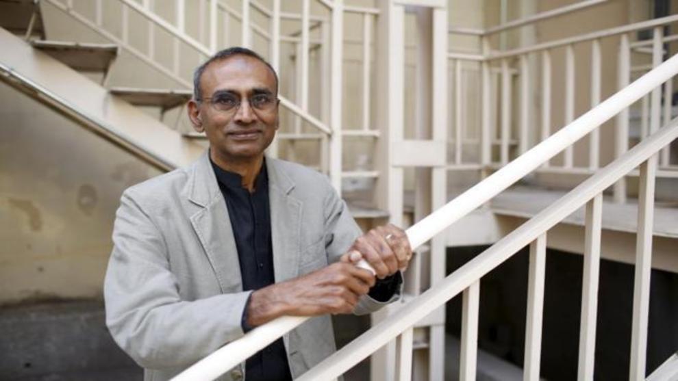 Venki Ramakrishnan en la sede de la Fundación BBVA.