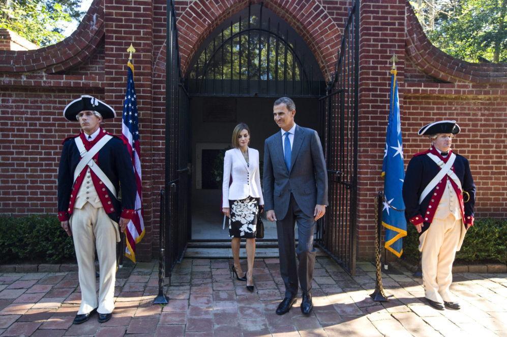 El Rey Felipe VI y la Reina Letizia visitan Mount Vernon, la...