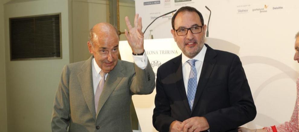Miquel Roca (i) junto a Ramon Espadaler