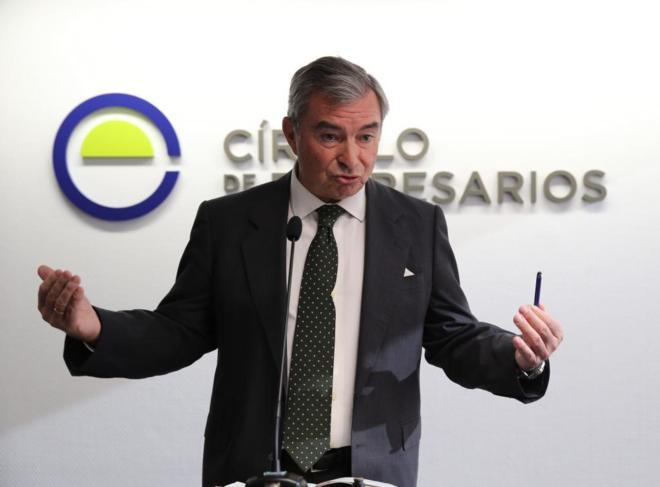 El presidente del Círculo de Empresarios, Javier Vega de Seoane,...