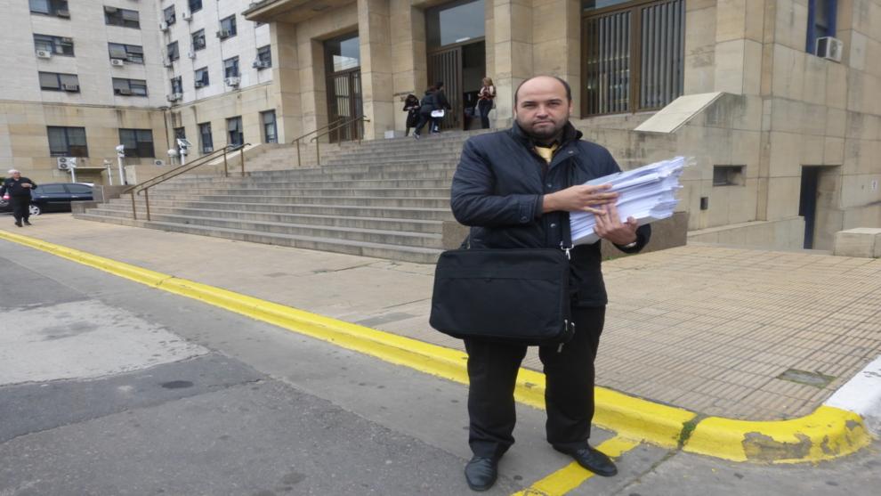 Miguel Ángel Rodríguez en los tribunales en Buenos Aires.