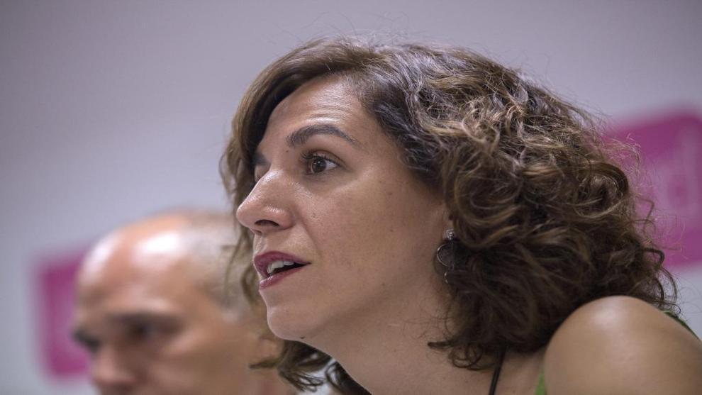 Irene Lozano, en un debate el pasado mes de julio.