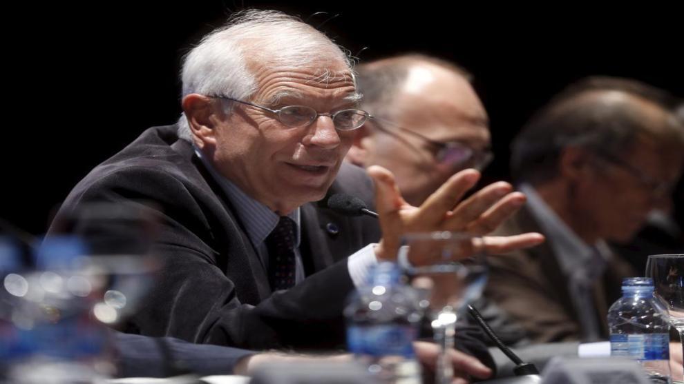 Josep Borrell, en el acto celebrado esta tarde en Madrid.