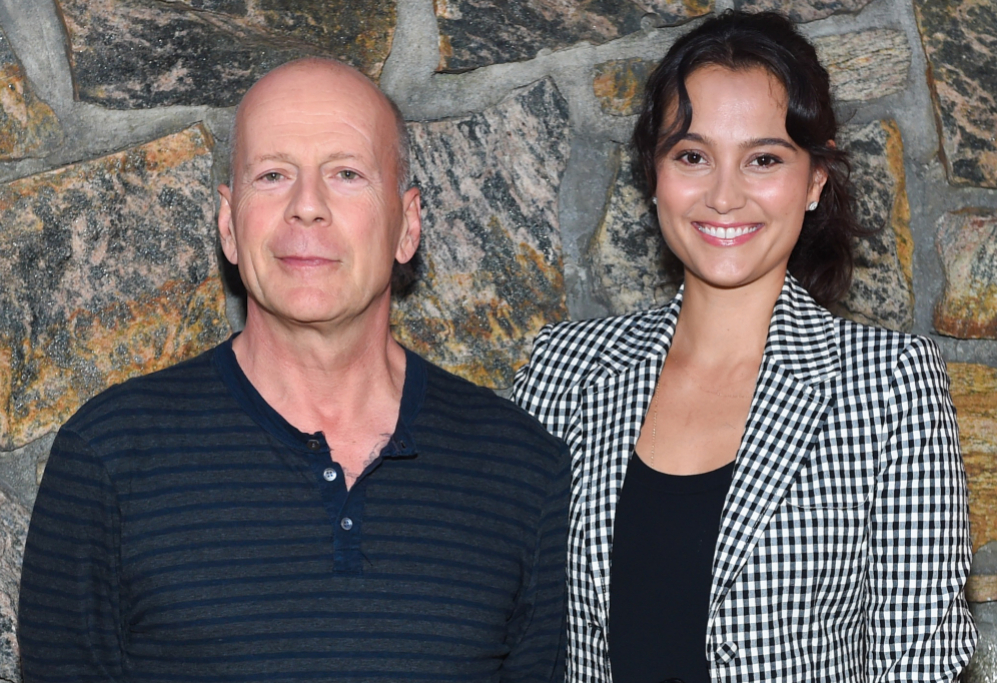 <strong>Bruce Willis y Emma Heming</strong>. La modernidad es que tu...