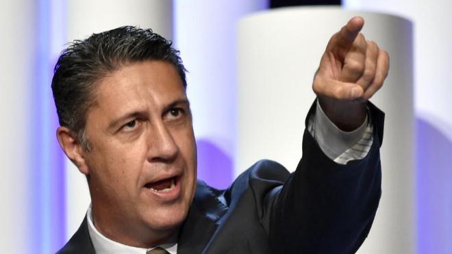 Xavier García Albiol, en el mitin de clausura de la campaña del PP...