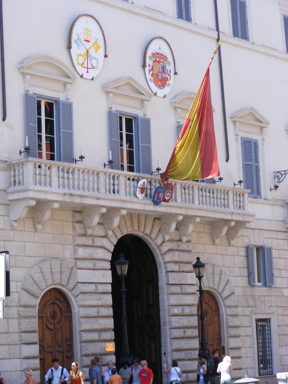 La embajada de España en Roma.