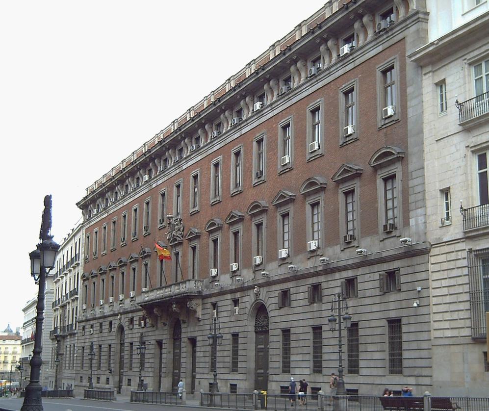 Sede del Ministerio de Hacienda de la calle Alcalá, en Madrid.