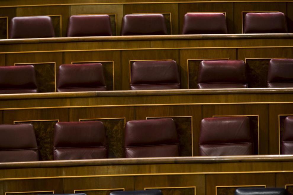 Escaños en el Congreso de los Diputados.