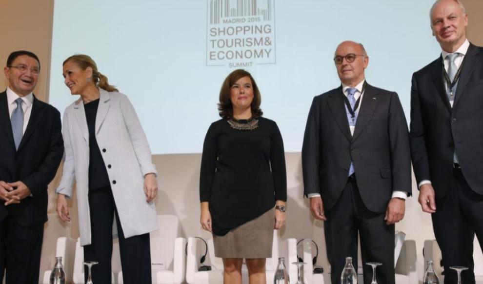 Soraya Sáenz de Santamaría, en la inaguración de la cumbre mundial...