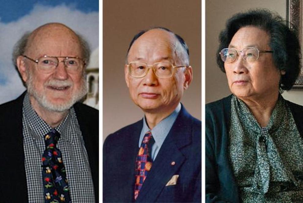 De izquierda a derecha: William C. Campbell, Satoshi Omura y Yoyou Tu