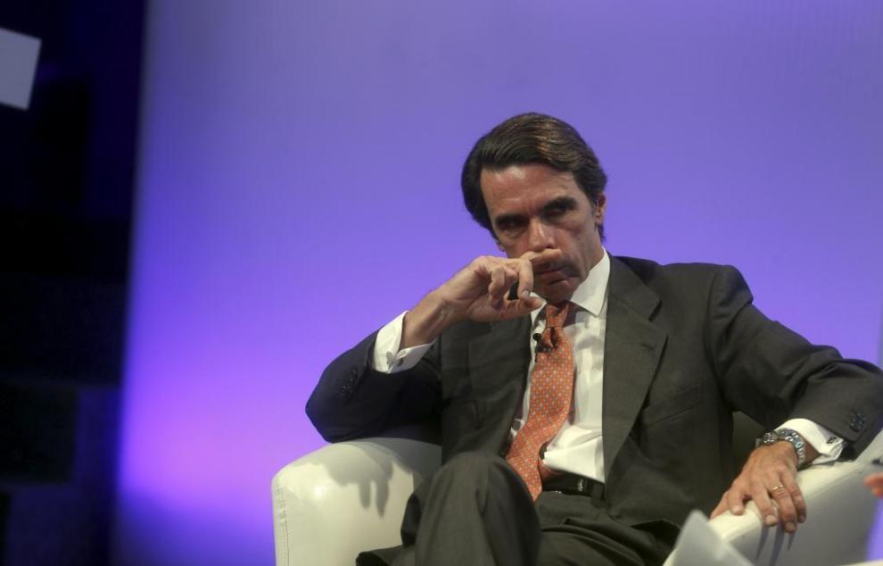 Aznar, ayer, durante el coloquio de Foro Futuro en Español en la Casa...